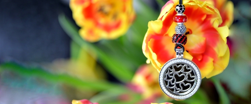 Coin Pendant with Beads