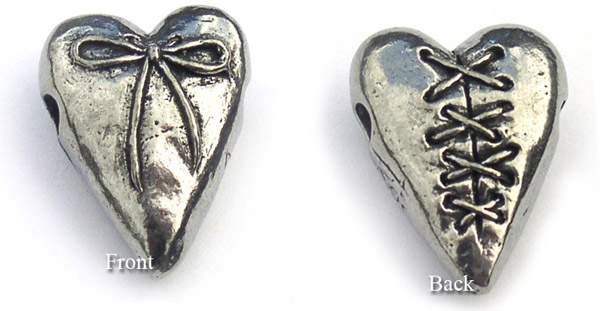 Inspirational Jewelry bead laced heart