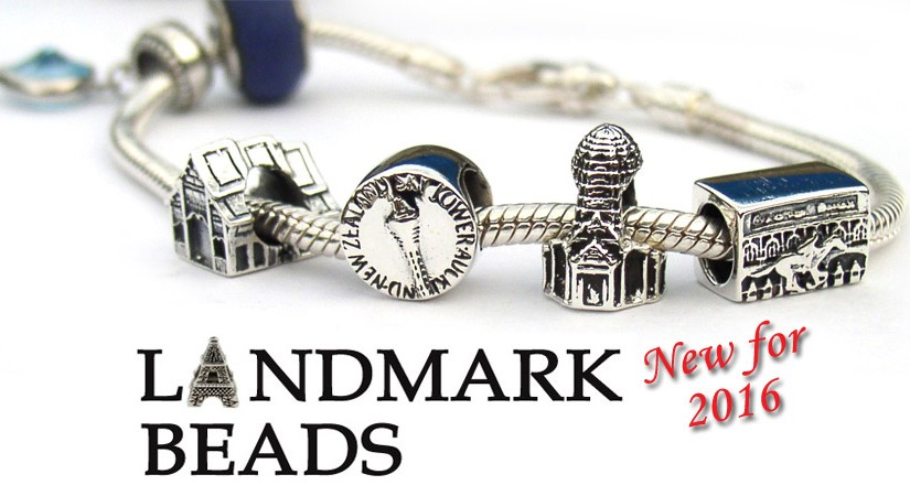 Landmark beads from around the world New for 2016