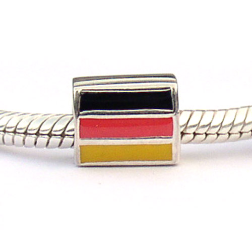 Germany Flag Bead Carlo Biagi Sterling Silver