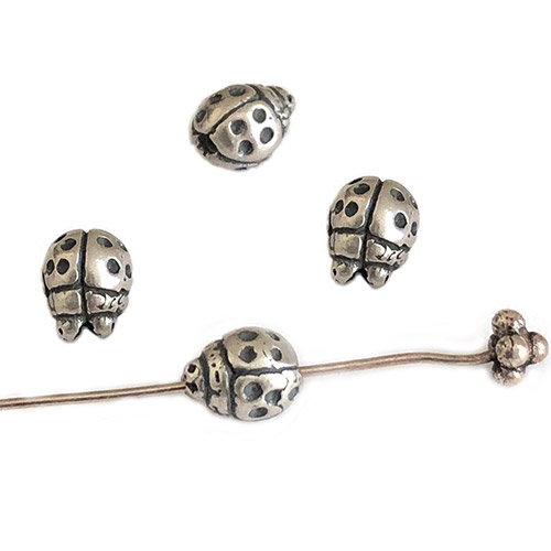 Clasmeyer ladybug bead sterling silver