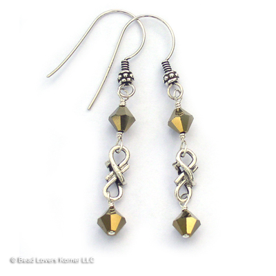 Vampire Diaries Eternal Reflection Earrings worn by Elena Gilbert