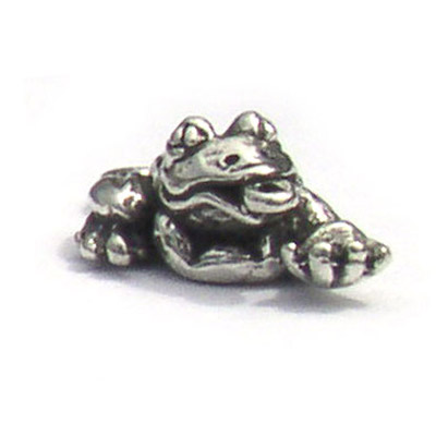 Sterling Silver Lucky Frog charm by Carl Clasmeyer