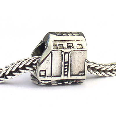 Train Engine Landmark Bead Sterling Silver