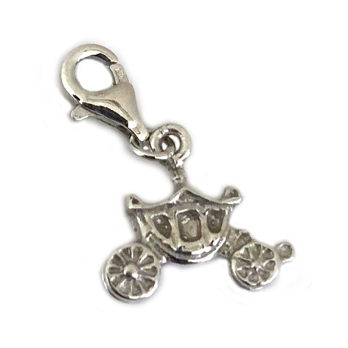 Silver Horse Carriage Carlo Biagi Clip On Charm