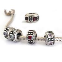 Birthstone Beads Square Stone Cz Sterling Silver