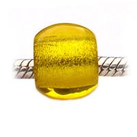 Yellow Carlo Biagi Glass European Bead