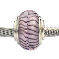 Pink and Purple Carlo Biagi Glass Bead
