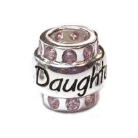 Daughter with pink cz sterling silver Carlo Biagi Bead